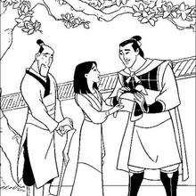 Mulan, o General Li Shang e seu pai, Fa Zhou
