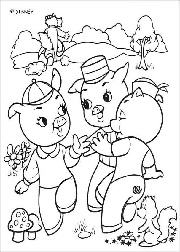 Desenhos Para Colorir De Os 3 Porquinhos Pt Hellokids Com