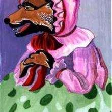 Lobo fantasiado de Vovó