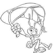 Vida de Inseto, salto de paraquedas