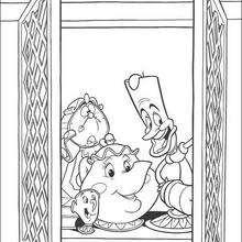 Zip, Lumiere, Orloge e Madame Sadovar na janela