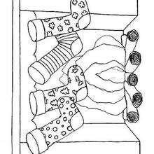 Desenho de uma chaminé para colorir