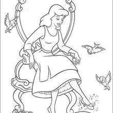 Cinderela com seu sapatinho