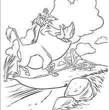 Pumba e Timon felizes da vida