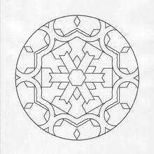 Estranho Mandala para colorir