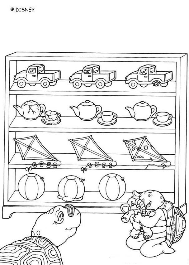 Desenhos Para Colorir De Desenho Do Franklin Com Brinquedos Para