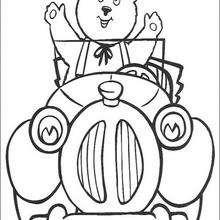 O urso Rechonchudo no taxi de Noddy