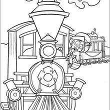 Colorindo O trem da fazenda Caminho do Paraíso