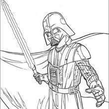 Darth Vader com sua espada a laser