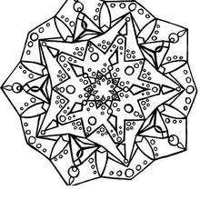 Mandala de estrelas para colorir