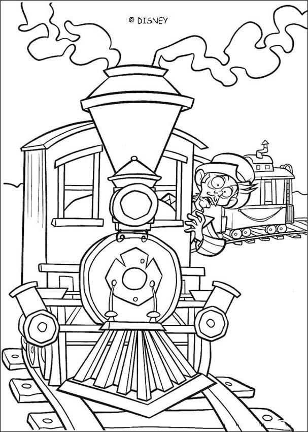 Desenhos Para Colorir De Colorindo O Trem Da Fazenda