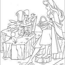 A princesa Aurora com seus amigos