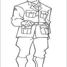 Capitão Rourke para colorir