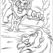 Mufasa lutando com seu irmão Scar