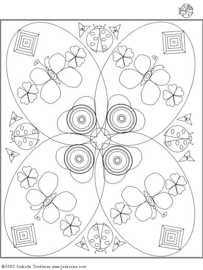 Desenhos Para Colorir De Mandala Com Borboletas Pt Hellokids Com