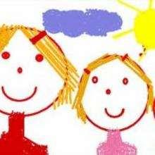 Três crianças sob o sol