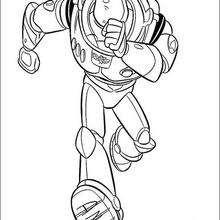 Desenho do Buzz Lightyear correndo para colorir