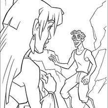 Milo e a Princesa Kida para colorir