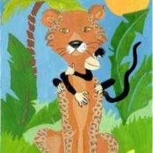 Macaco e leopardo
