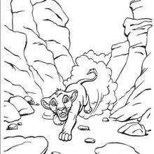 Simba morrendo de medo