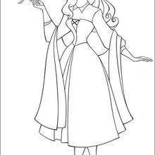 A princesa Aurora com os pássaros