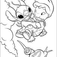 Lilo voando com o Stitch