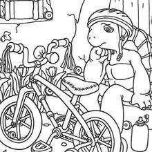 A Tartaruga Harriet com sua bicicleta