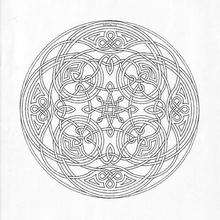 Mandala para IMPRIMIR e COLORIR