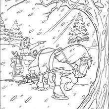 Bela na Tempestade de neve