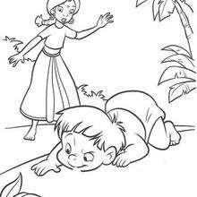 A menina cuidando de Moggli