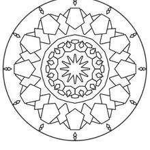 Mandala com formas diferentes para colorir