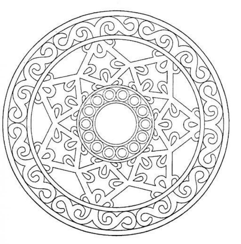 desenhos para colorir de mandala difícil para colorir