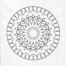 Mandala com raios solares