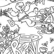 Desenho da Harriet feliz da vida para colorir