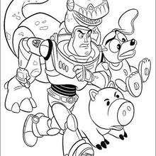 Toy Story: brinquedos correndo