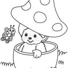 Dia das Bruxas, Colorindo Monchhichi no cogumelo