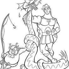 Hércules com um dragão