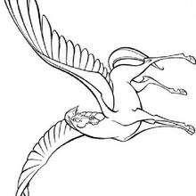 Desenho do Cavalo Pégaso para colorir