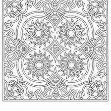Colorindo Mandala de girassóis