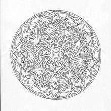 Mandala com grande estrela para colorir GRATIS