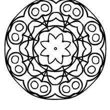 Mandala com acerolas para colorir