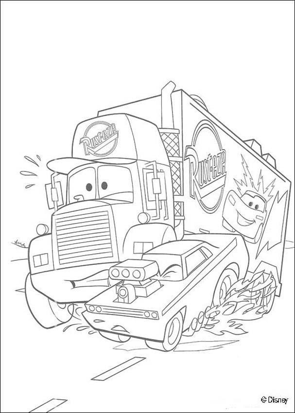 Desenhos Para Colorir De Carros Mack O Super Caminhao Pt