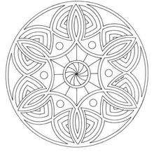 FACIL Mandala para colorir