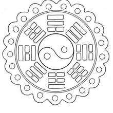 Mandala GRATIS para colorir de Paz e Amor