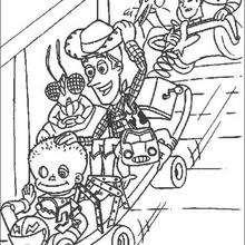Brinquedos andando de skate