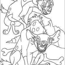 Duas hienas, Shenzi e Banzai