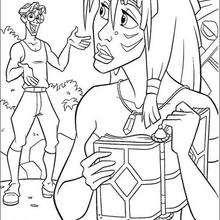 A princesa de Atlantis lendo o livro secreto