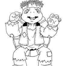 Desenho do Franklin no Dia das Bruxas para colorir