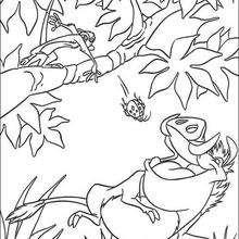 Pumba comendo besouros