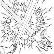 Um duelo com espadas a laser